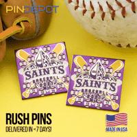 Saints Baseball Trading Pins